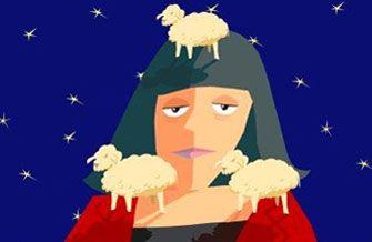 Безсоння: вівці рахунок люблять. Малюнок з сайту https://veer.com