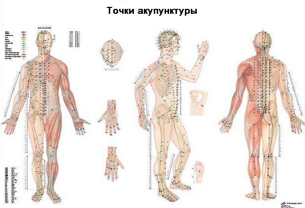 Акупунктурні точки для голкотерапії